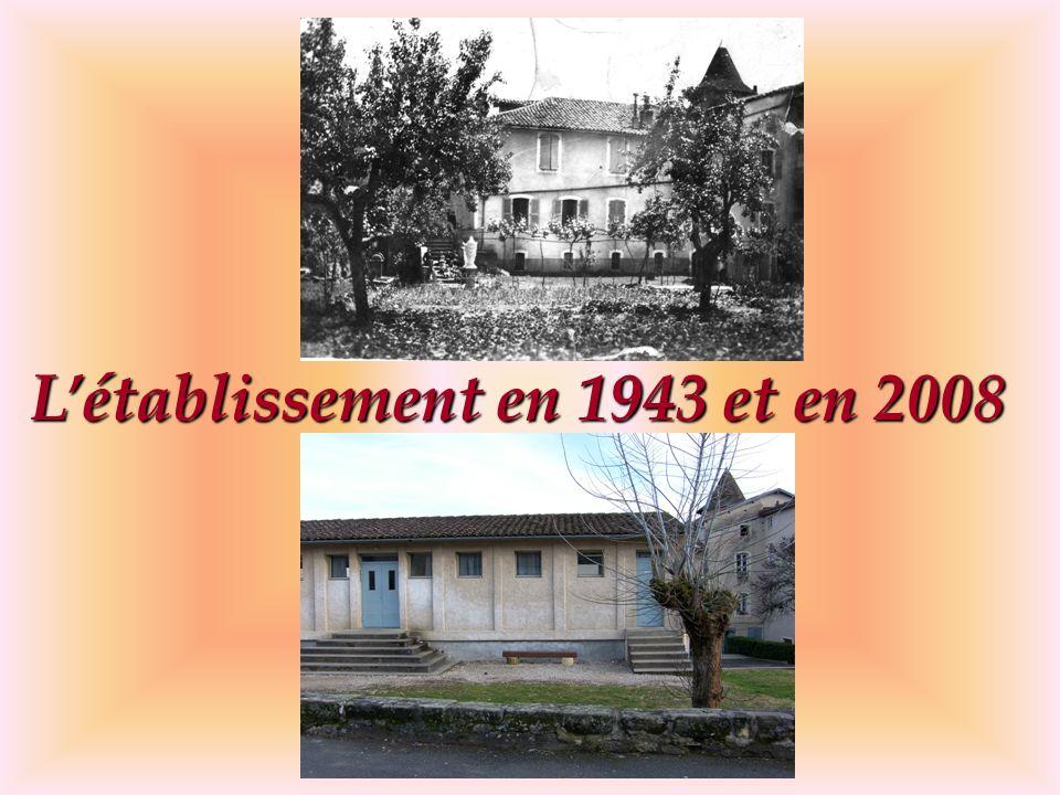 L'établissement en 1943 et en 2008