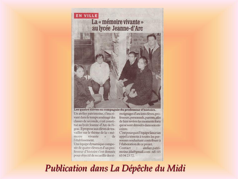 Publication dans La Dépêche du Midi