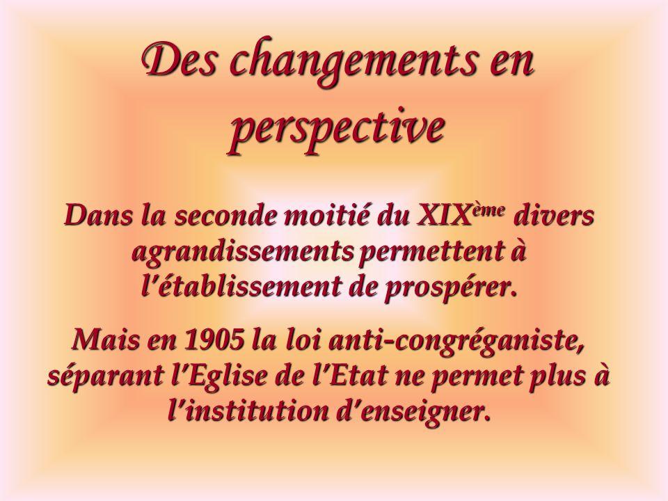 Des changements en perspective