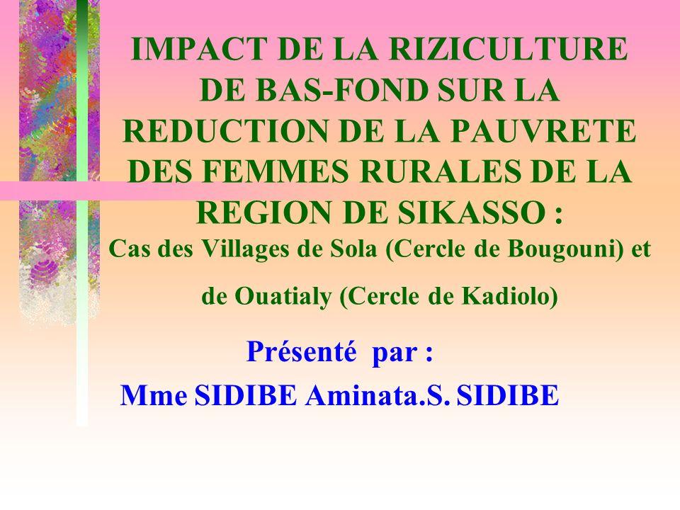 Présenté par : Mme SIDIBE Aminata.S. SIDIBE
