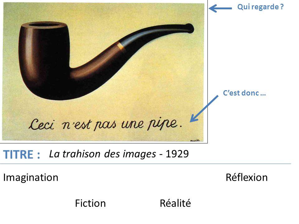 TITRE : La trahison des images - 1929 Imagination Réflexion Fiction