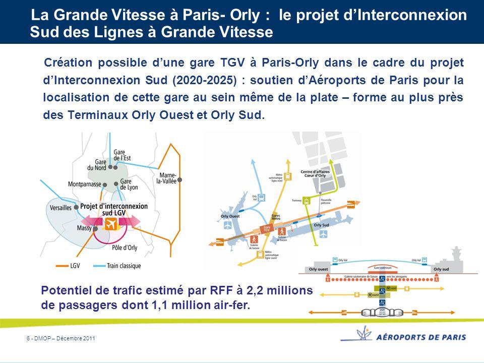 La Grande Vitesse à Paris- Orly : le projet d'Interconnexion Sud des Lignes à Grande Vitesse