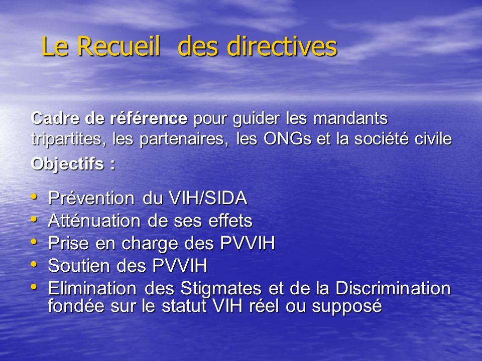 Le Recueil des directives