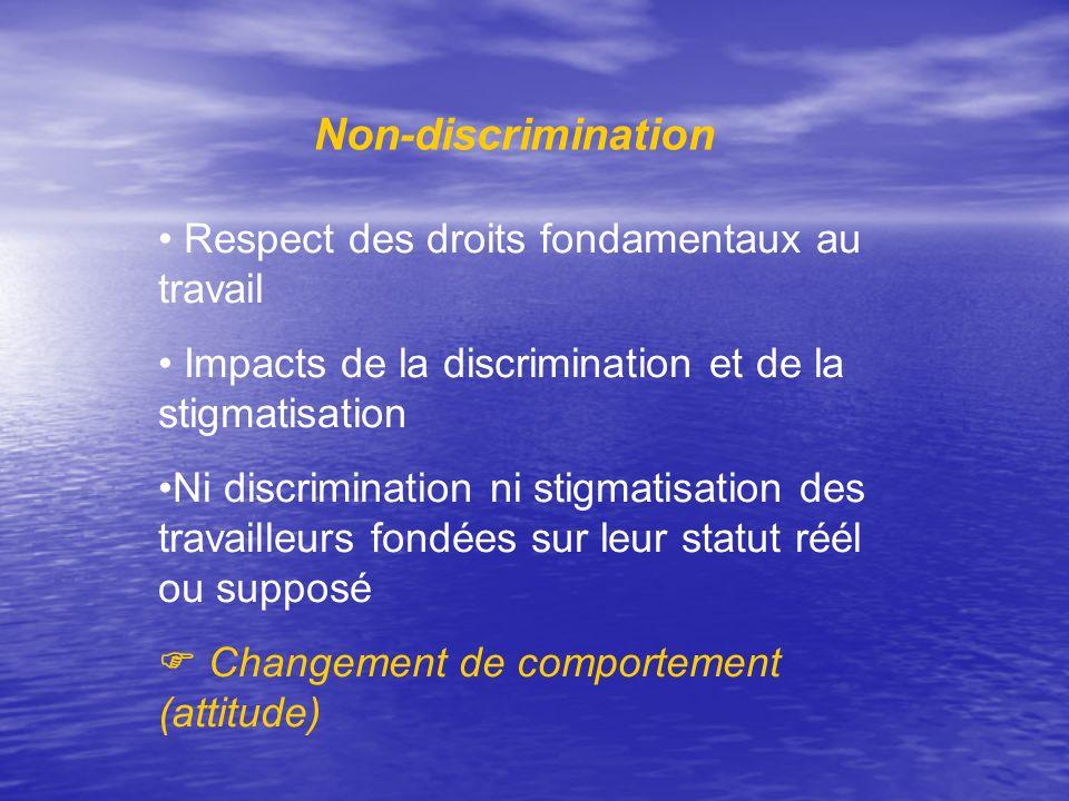 Non-discrimination Respect des droits fondamentaux au travail