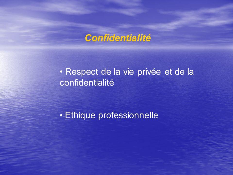 Confidentialité Respect de la vie privée et de la confidentialité