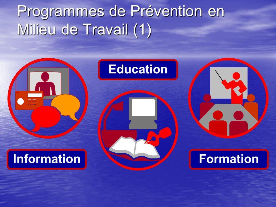 Programmes de Prévention en Milieu de Travail (1)