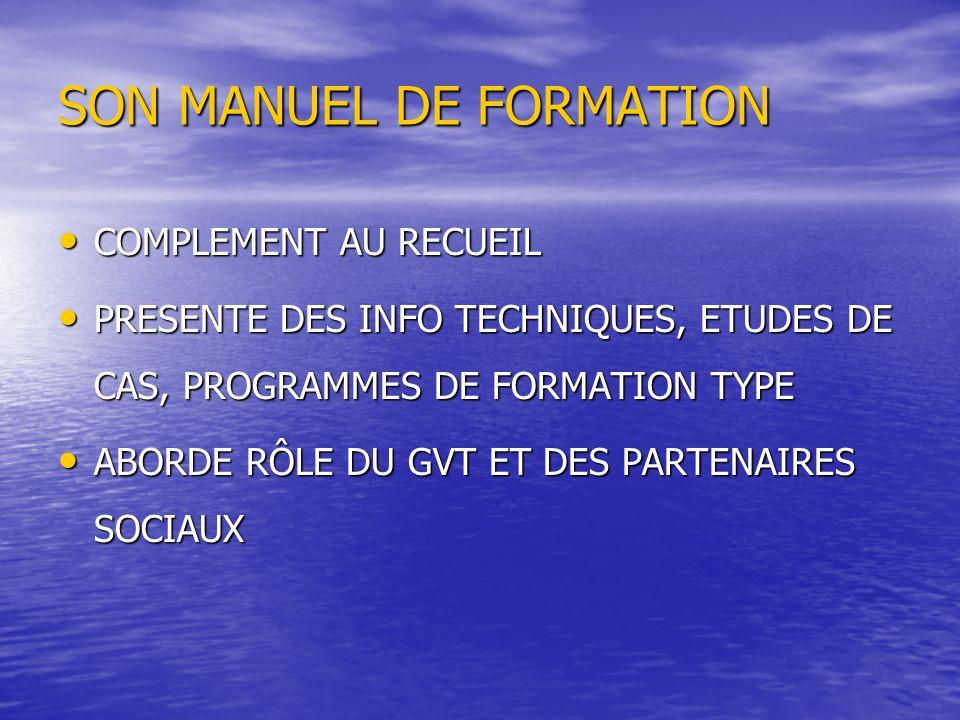 SON MANUEL DE FORMATION