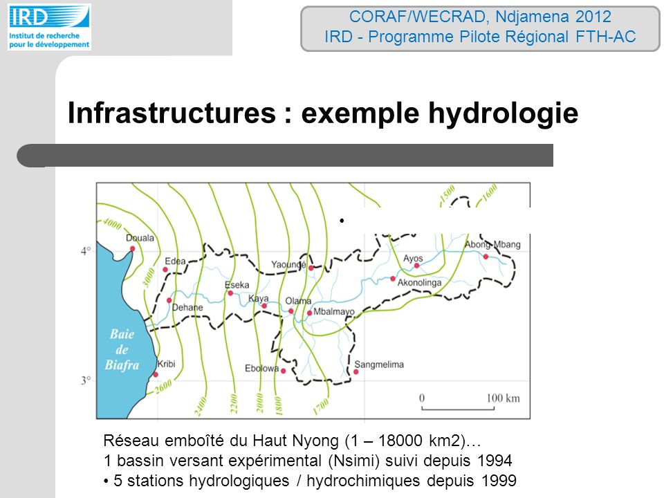Infrastructures : exemple hydrologie