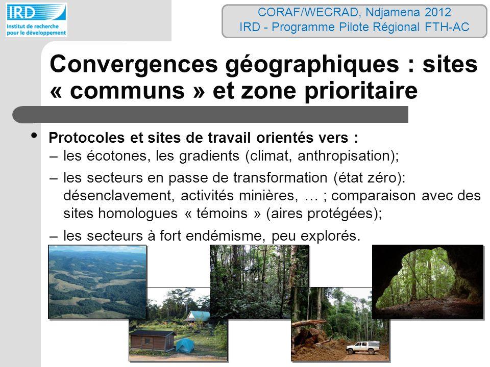 Convergences géographiques : sites « communs » et zone prioritaire