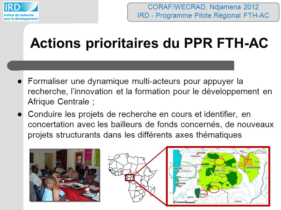 Actions prioritaires du PPR FTH-AC