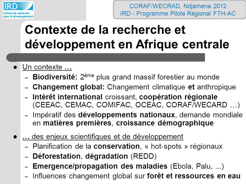 Contexte de la recherche et développement en Afrique centrale