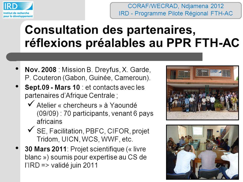 Consultation des partenaires, réflexions préalables au PPR FTH-AC