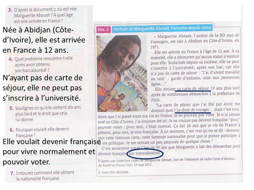 Née à Abidjan (Côte-d'Ivoire), elle est arrivée en France à 12 ans.