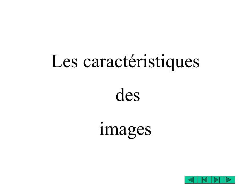 Les caractéristiques des images