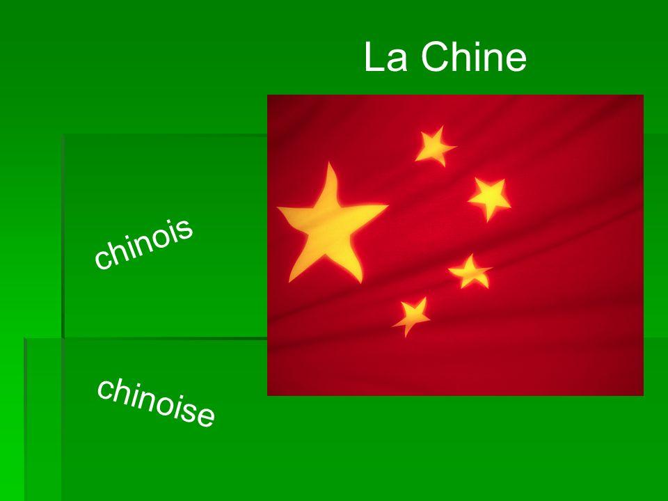 La Chine chinois chinoise