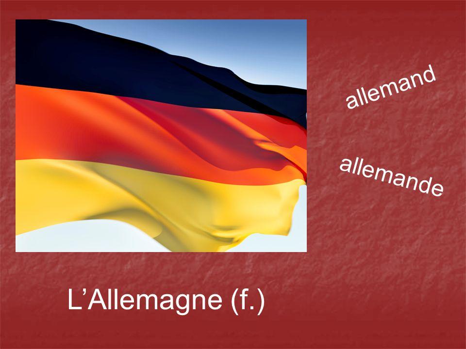 allemand allemande L'Allemagne (f.)