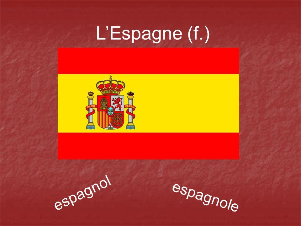 L'Espagne (f.) espagnol espagnole