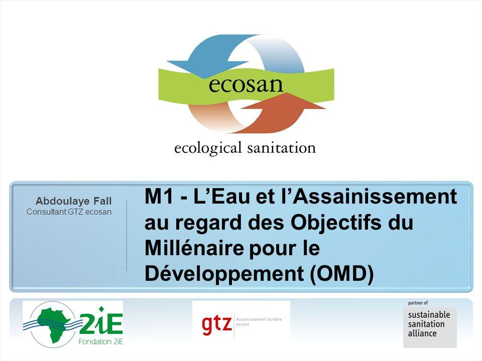 M1 - L'Eau et l'Assainissement au regard des Objectifs du Millénaire pour le Développement (OMD)