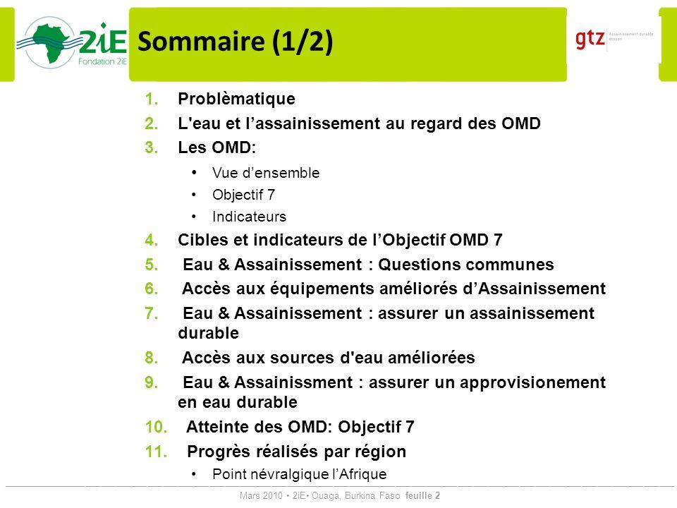 Sommaire (1/2) Problèmatique
