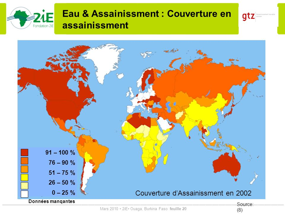 Eau & Assainissment : Couverture en assainissment