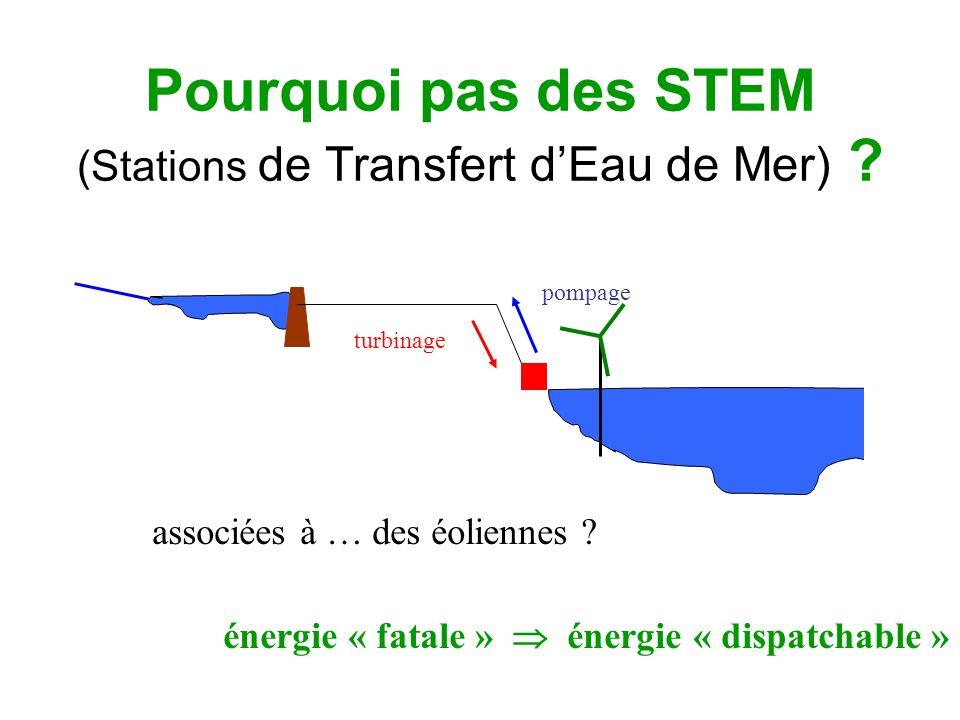 Pourquoi pas des STEM (Stations de Transfert d'Eau de Mer)