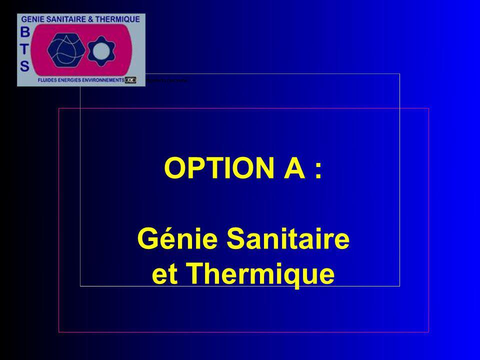 OPTION A : Génie Sanitaire et Thermique