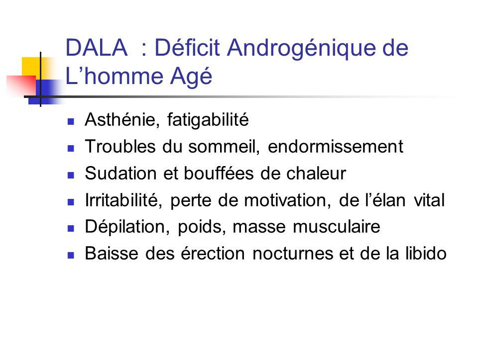 DALA : Déficit Androgénique de L'homme Agé