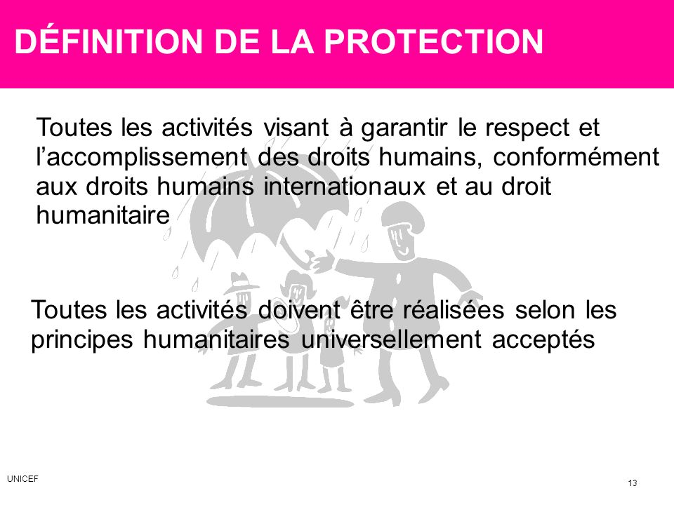 DÉFINITION DE LA PROTECTION