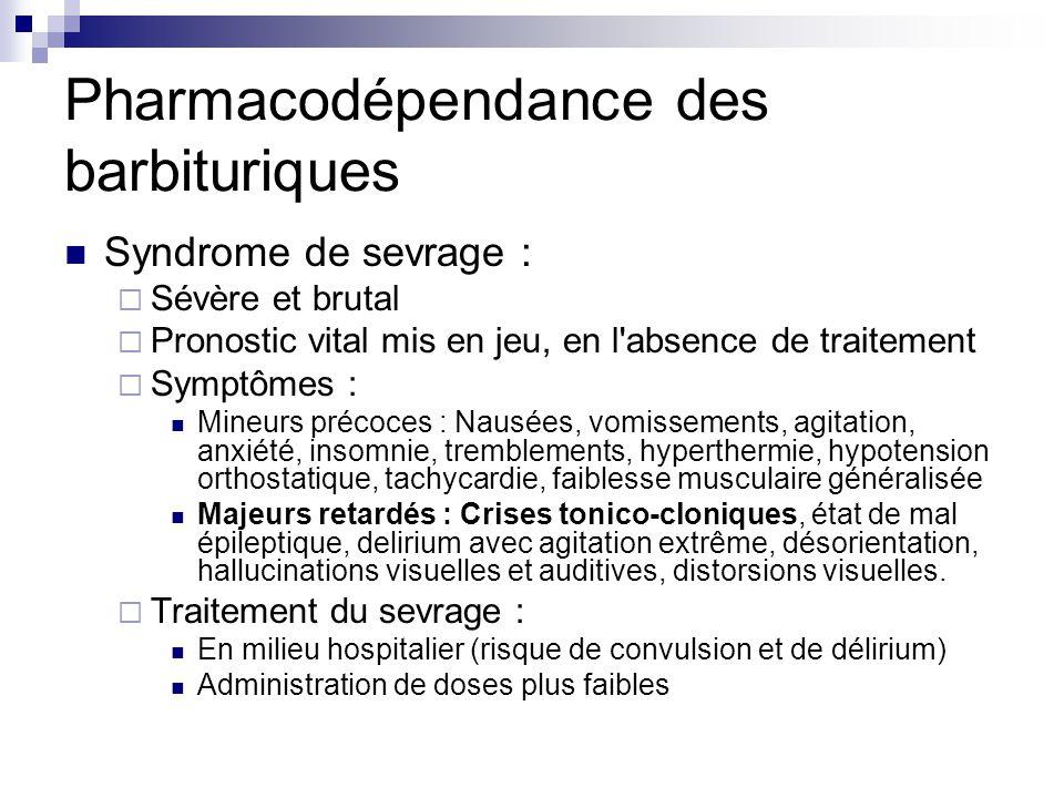 Pharmacodépendance des barbituriques
