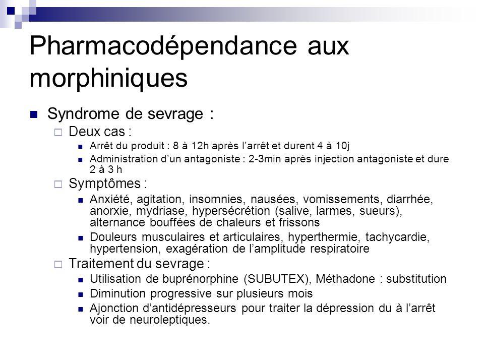 Pharmacodépendance aux morphiniques