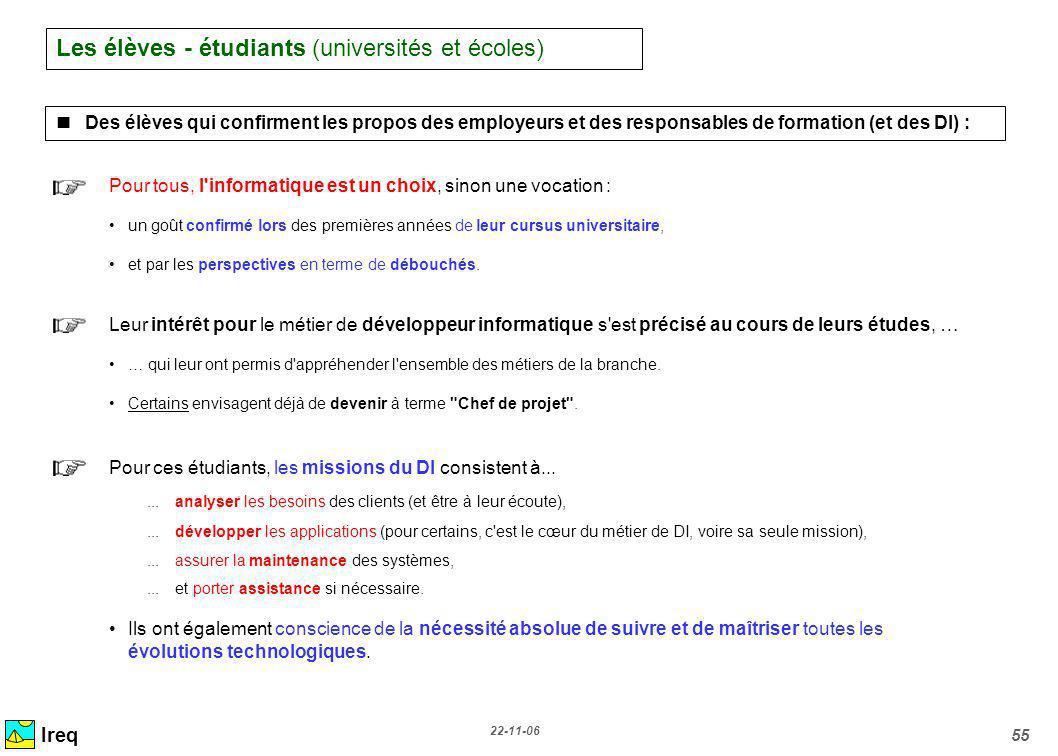 Les élèves - étudiants (universités et écoles)