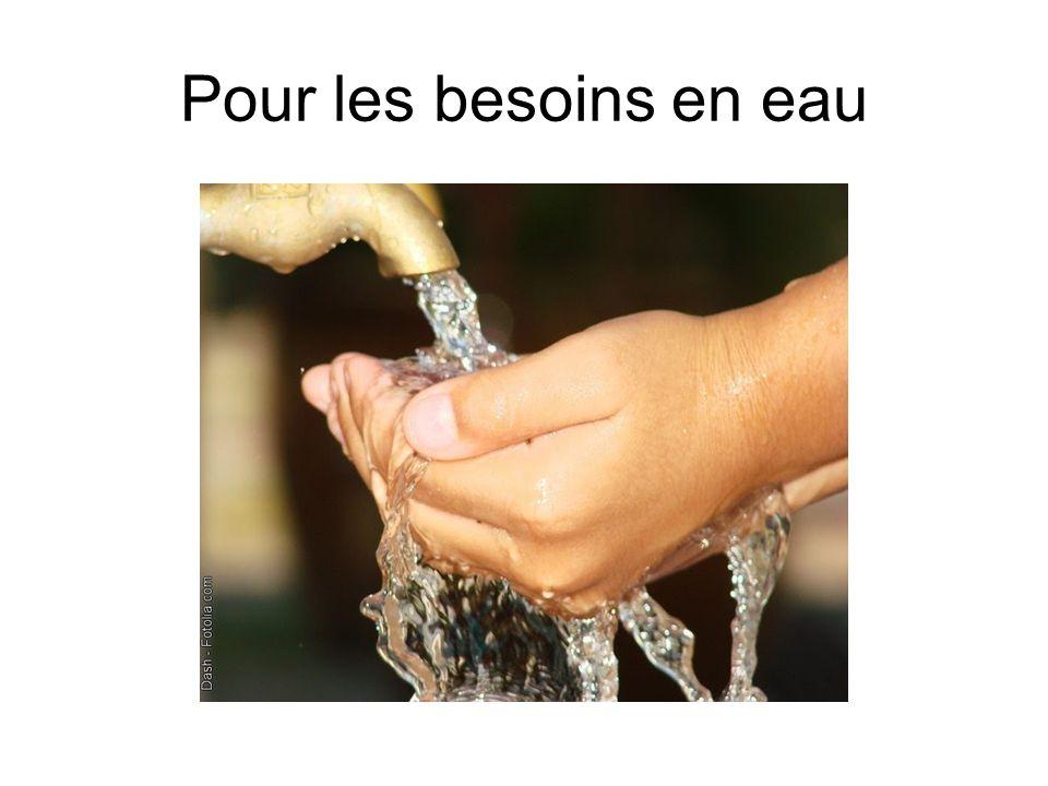 Pour les besoins en eau