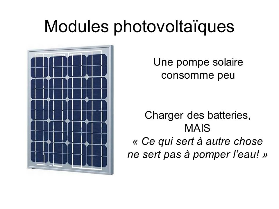 Modules photovoltaïques
