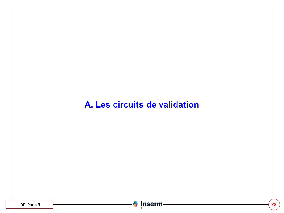 A. Les circuits de validation