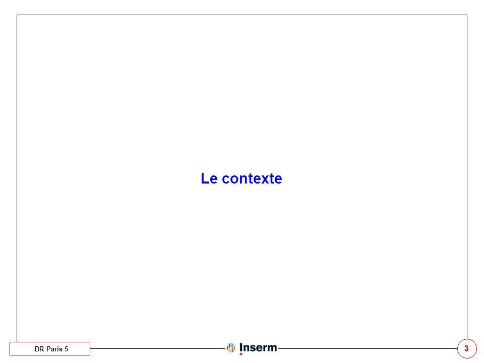 Le contexte DR Paris 5 3