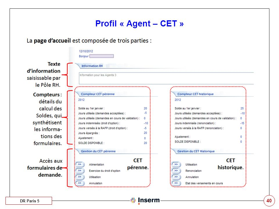 Profil « Agent – CET » Ouverture des concours aux agents appartenant à d'autres établissements Stage puis titularisation C'est probable.