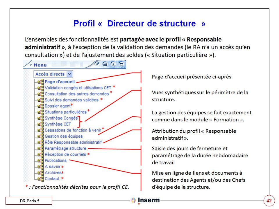 Profil « Directeur de structure »