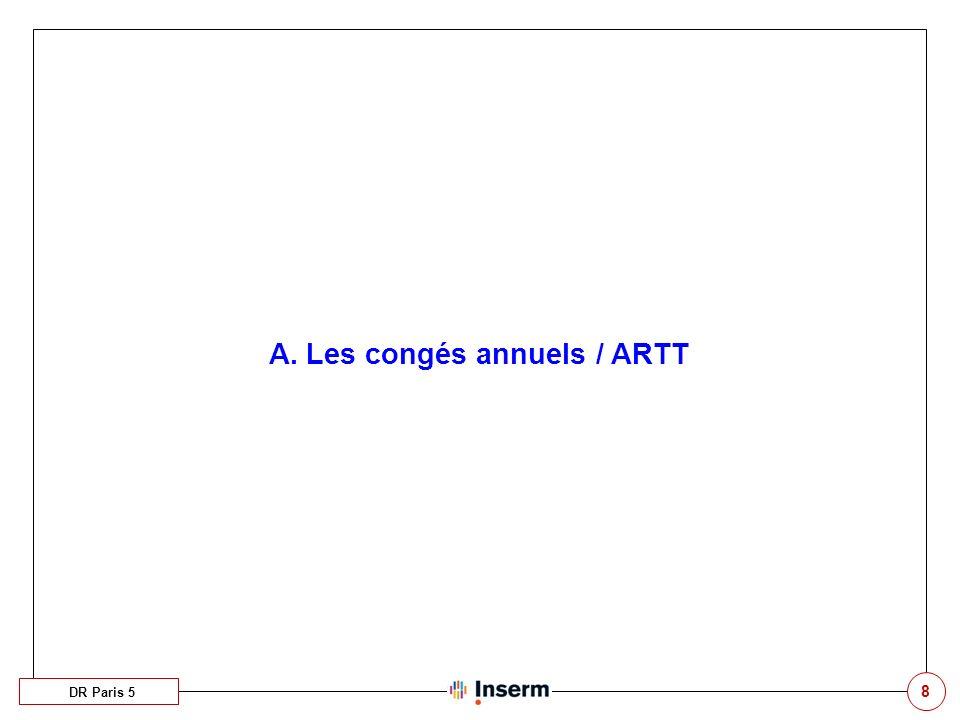 A. Les congés annuels / ARTT
