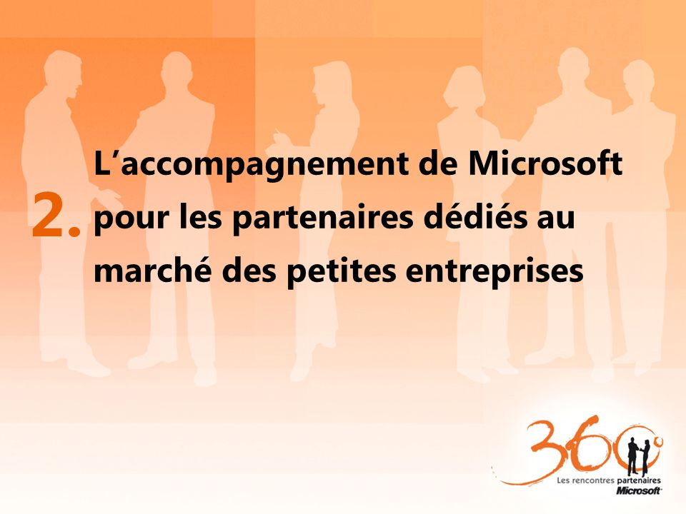 L'accompagnement de Microsoft pour les partenaires dédiés au marché des petites entreprises