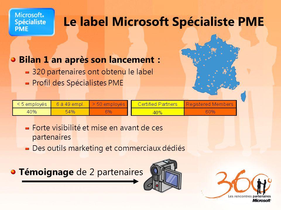 Le label Microsoft Spécialiste PME