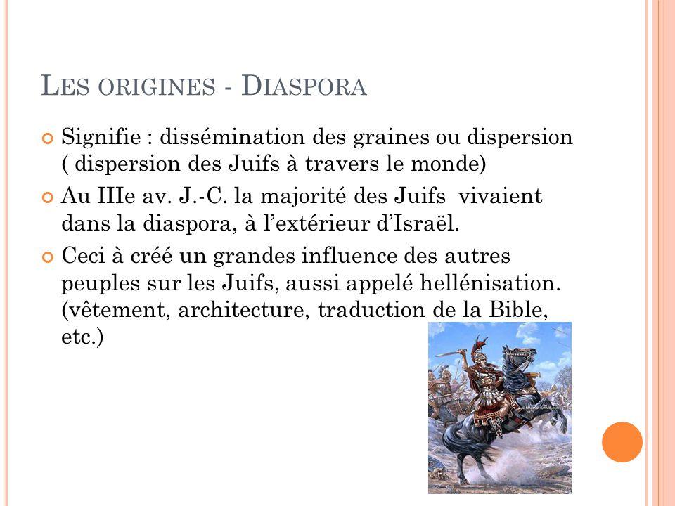 Les origines - Diaspora