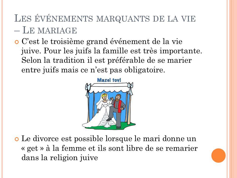 Les événements marquants de la vie – Le mariage