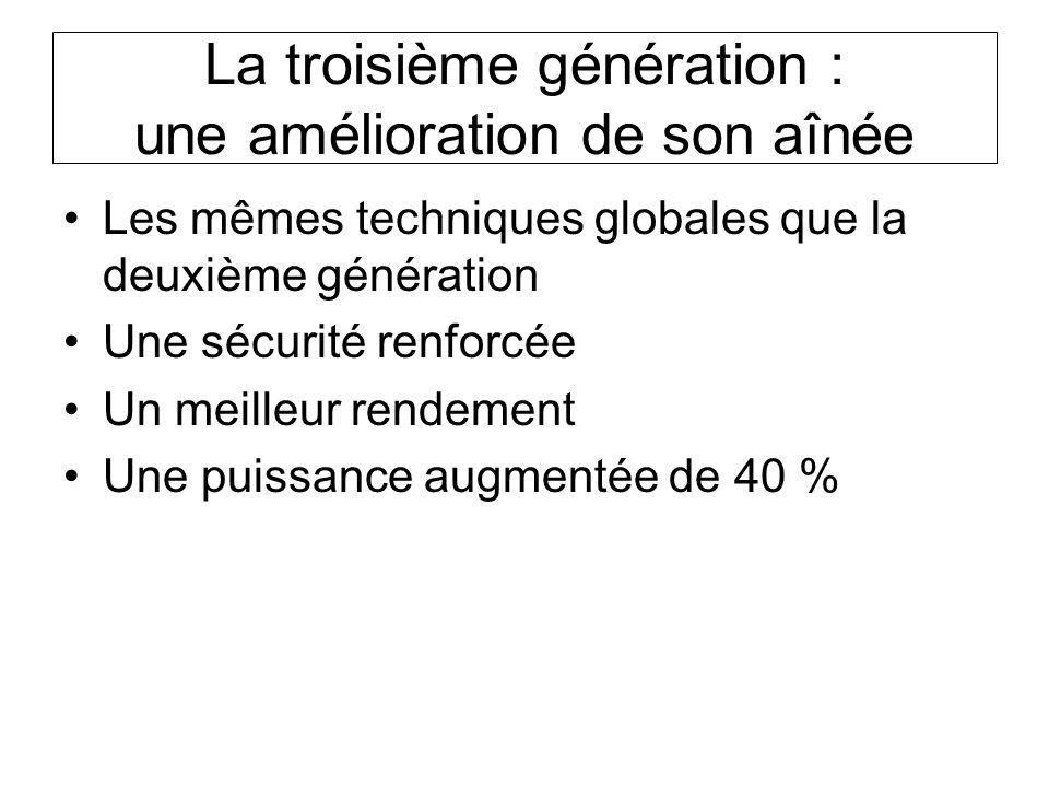 La troisième génération : une amélioration de son aînée