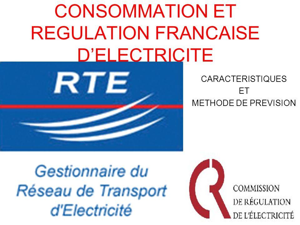 CONSOMMATION ET REGULATION FRANCAISE D'ELECTRICITE