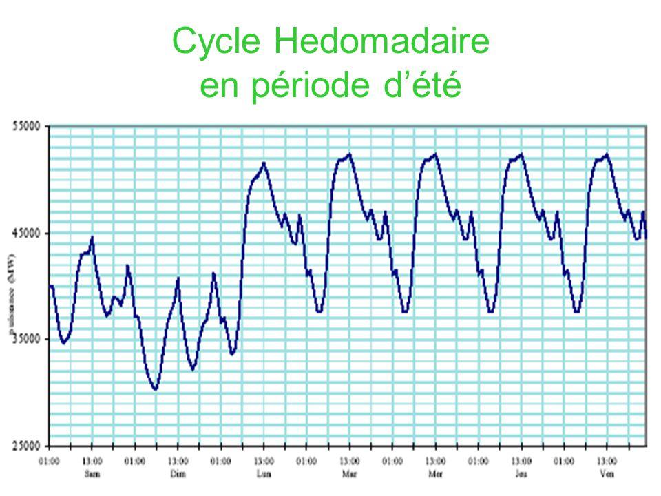 Cycle Hedomadaire en période d'été