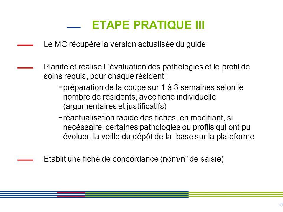 ETAPE PRATIQUE III Le MC récupére la version actualisée du guide
