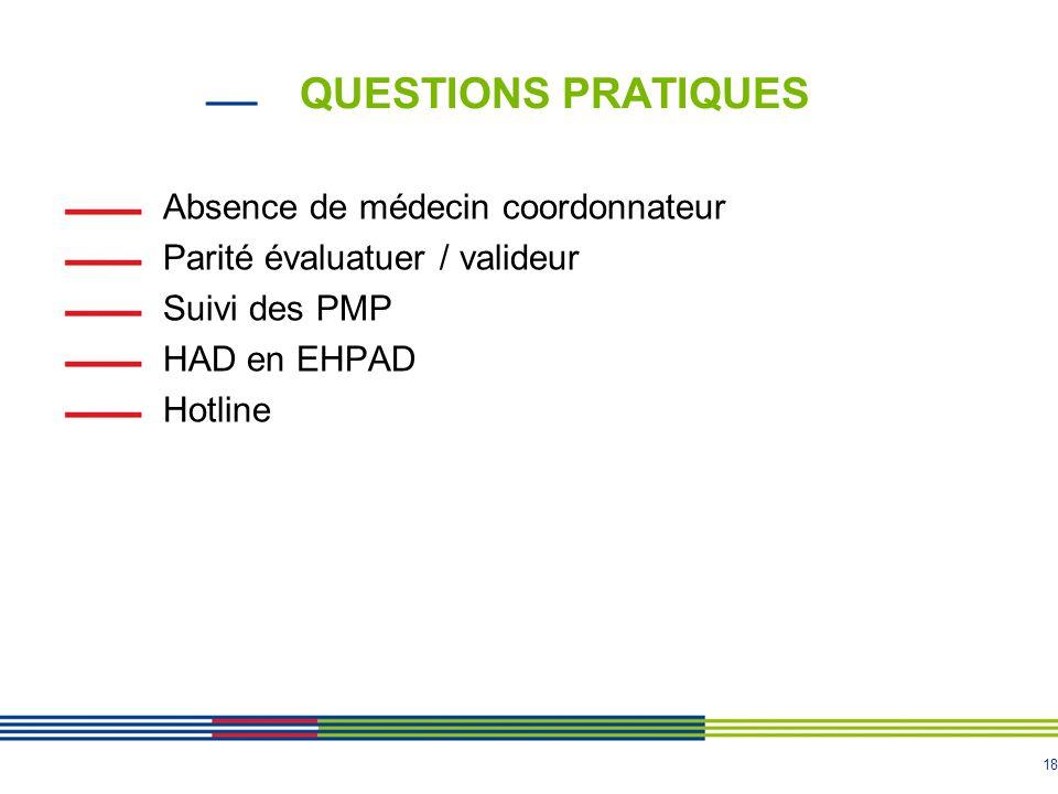 QUESTIONS PRATIQUES Absence de médecin coordonnateur