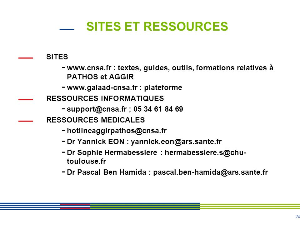SITES ET RESSOURCES SITES