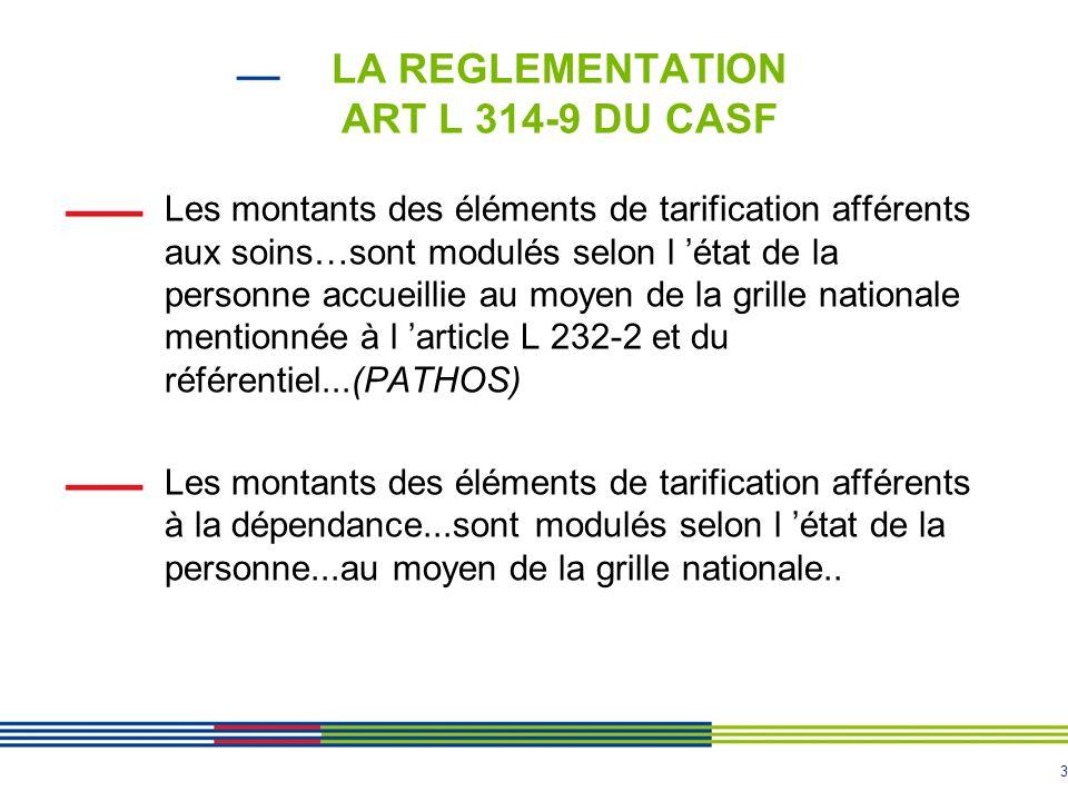 LA REGLEMENTATION ART L 314-9 DU CASF