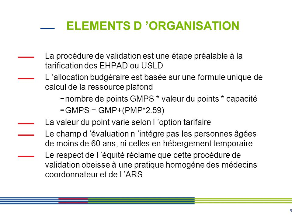 ELEMENTS D 'ORGANISATION
